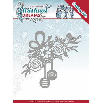 Dies - Yvonne Creations - Christmas Dreams - Bauble Ornament YCD10146