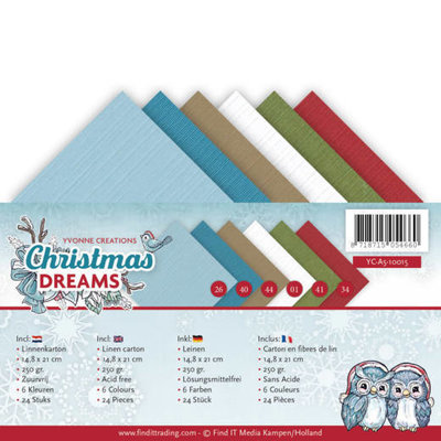 Linnenpakket - A5 - Yvonne Creations - Christmas Dreams YC-A5-10015