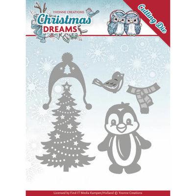 Dies - Yvonne Creations - Christmas Dreams - Christmas Penguin YCD10144