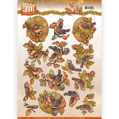 3D Knipvel - Yvonne Creations - Fabulous Fall - Fall Birds CD11156