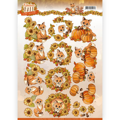 3D Knipvel - Yvonne Creations - Fabulous Fall - Fabulous Foxes CD11155