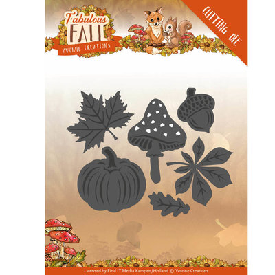 Dies - Yvonne Creations - Fabulous Fall - Autumn Leaves YCD10149