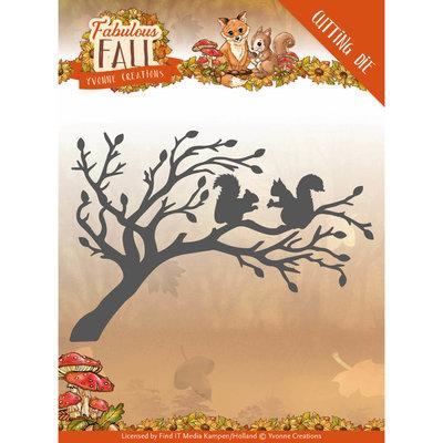 Dies - Yvonne Creations - Fabulous Fall - Squirrels YCD10148