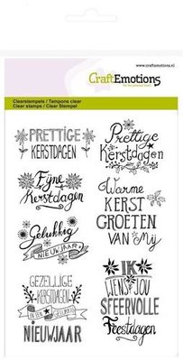 CraftEmotions clearstamps A6 - kerst handlettering Christmas Star 130501/1267