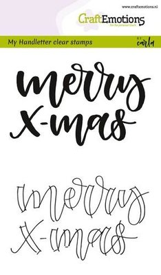 CraftEmotions clearstamps A6 - handletter - Merry xmas (Eng) CK  130501/1809