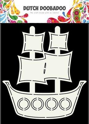 DDBD Dutch Card Art -  Pirate ship A5 470.713.685