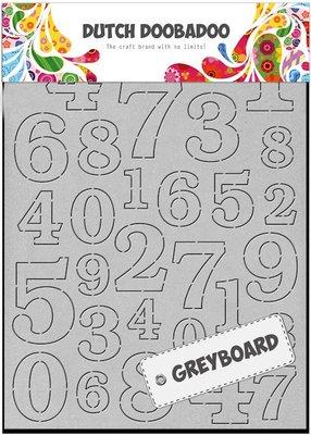 DDBD Dutch Greyboard  - Numbers A6 492.500.004