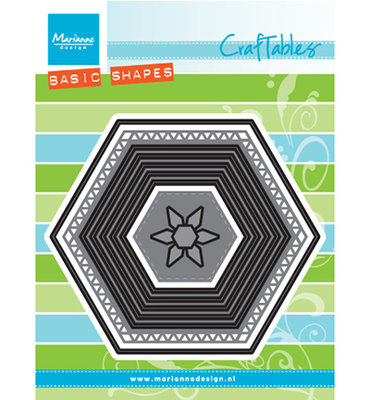 Marianne design, CR1444 - Basic set: Hexagon