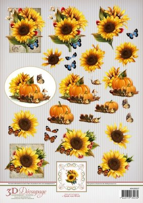Ann's Paper Art 3D Decoupage Sheet Sunflowers APA3D027