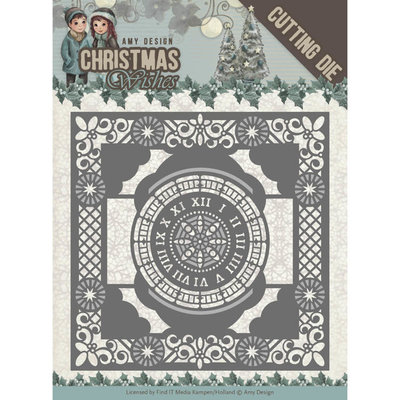 Dies - Amy Design - Christmas Wishes - Twelve O'clock frame ADD10148