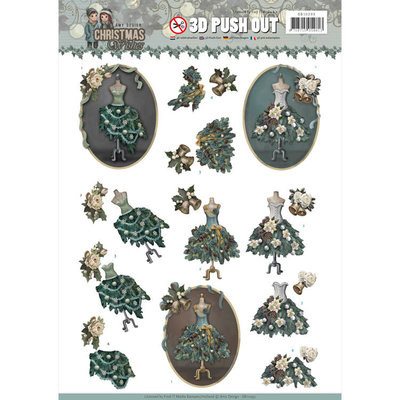3D Pushout - Amy Design - Christmas Wishes - Well Dressed SB10293