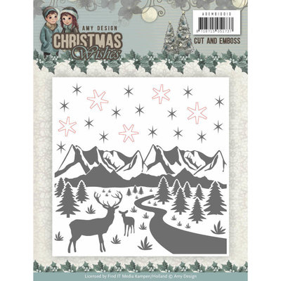 Cut and Emboss Folder - Amy Design - Christmas Wishes ADEMB10010