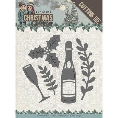 Dies - Amy Design - Christmas Wishes - Champagne ADD10152