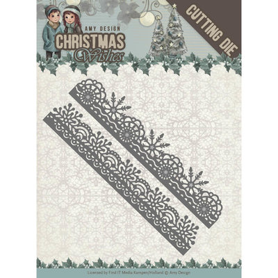 Dies - Amy Design - Christmas Wishes - Snowflake Borders ADD10150