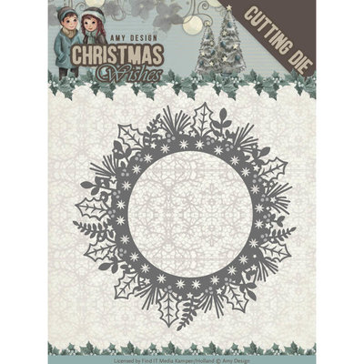 Dies - Amy Design - Christmas Wishes - Holly Wreath ADD10149