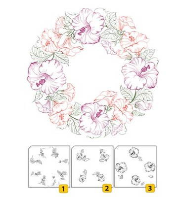 Layered stamp with position LCS001 - Wreath-1