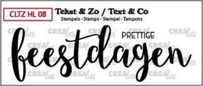 Crealies Clearstamp Tekst & Zo prettige feestdagen (dicht) CLTZHL08 28 x 89 mm