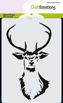 CraftEmotions Mask stencil kop rendier A6 A6