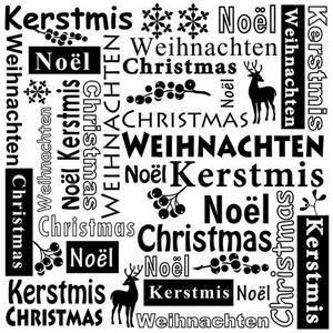 Nellie`s Choice - Emb.folder Multi Language tekst Kerstmis MLTXT001