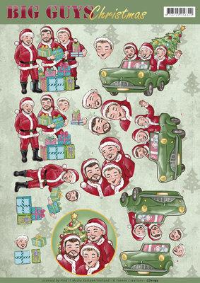 3D Knipvel - Yvonne Creations - Big Guys Christmas - Santa's CD11195