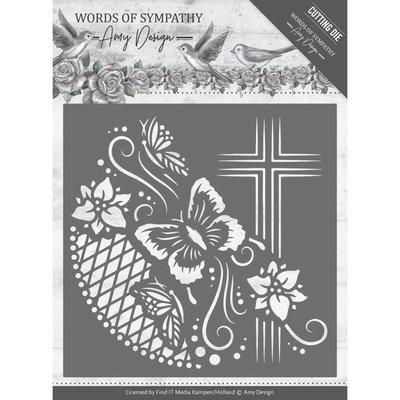 Dies - Amy Design - Words of Sympathy - Cross Frame ADD10154