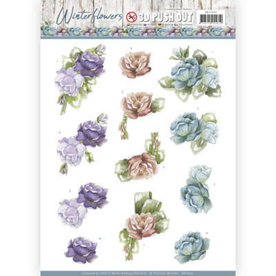 3D Pushout - Precious Marieke - Winter Flowers - Roses SB10302