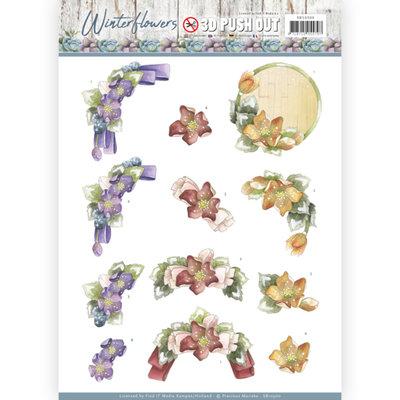3D Pushout - Precious Marieke - Winter Flowers - Helleborus SB10300