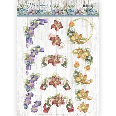 3D knipvel - Precious Marieke - Winter Flowers - Helleborus CD11189