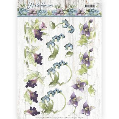 3D knipvel - Precious Marieke - Winter Flowers - Orchids CD11188