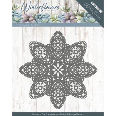 Dies - Precious Marieke - Winter Flowers - Floral Snowflake PM10140