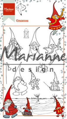Marianne design, Clear stamp  Hetty's gnomes