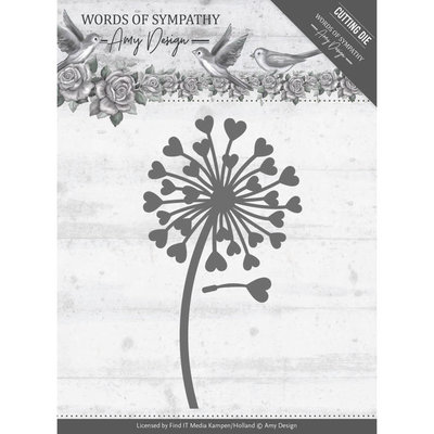 Dies - Amy Design - Words of Sympathy - Sympathy Flower