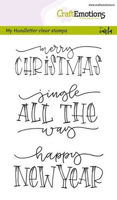 CraftEmotions clearstamps A6 - handletter - Jingle all the (Eng)  130501/1808