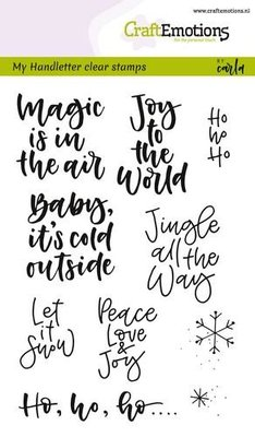 CraftEmotions clearstamps A6 - handletter - text xmas small (Eng)  130501/1812