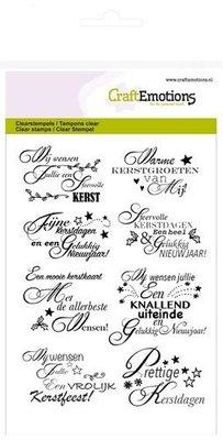 CraftEmotions clearstamps A6 - tekst NL kerstwensen)  130501/1157