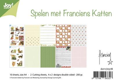 Joy! papierset Spelen met Franciens katten  6011/0578