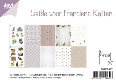 Joy! papierset Liefde voor Franciens katten  6011/0577