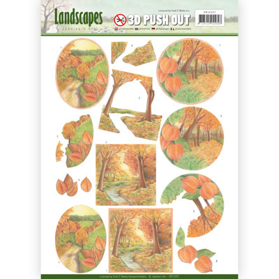 3D Pushout - Jeanine's Art - Landscapes - Fall Landscapes SB10297