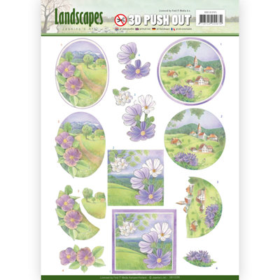 3D Pushout - Jeanine's Art - Landscapes - Spring Landscapes SB10295