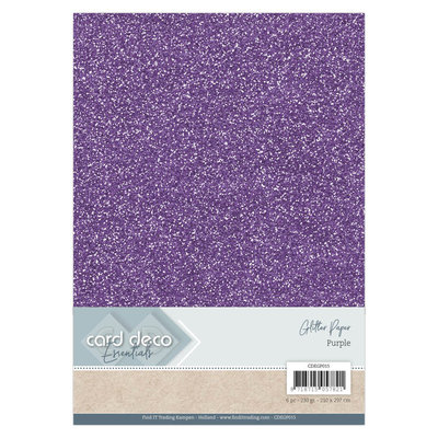 Card Deco Essentials Glitter Paper Purple CDEGP015