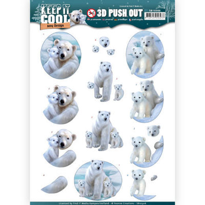 3D Pushout - Amy Design - Keep it Cool - Cool Polar Bears SB10306 - HJ16401