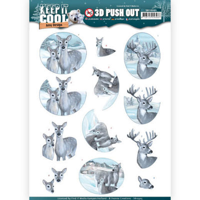 3D Pushout - Amy Design - Keep it Cool - Cool Deers SB10305