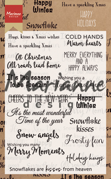 Marianne design - Clear Stamp happy holidays CS1009