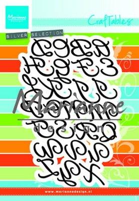 Marianne desgn - Craftables stencil classic alphabet CR1452