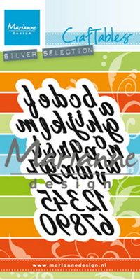 Marianne desgn - Craftables stencil classic alphabett CR1453