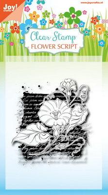 Joy! stempel Flower script 6410/0387