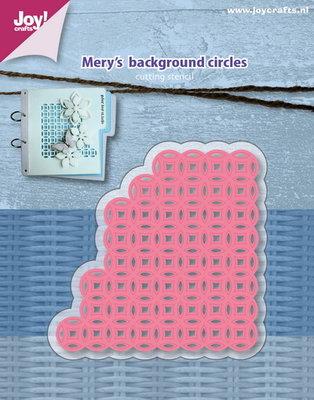 Joy! stencil Mery's achtergrond cirkels6002/1128