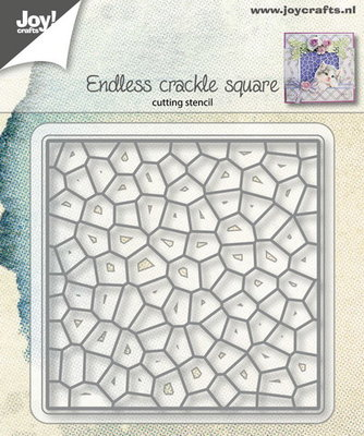 Joy! stencil endless crackle square 6002/1153