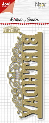 Joy! stencil Noor birthday border 6002/1174
