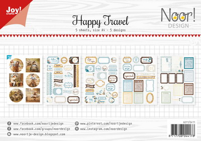 Joy! labelsheets cuttingsheet Noor Happy travel 6011/0411
